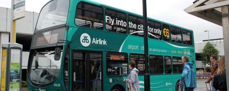 ir del aeropuerto al centro de Dublín en transporte publico