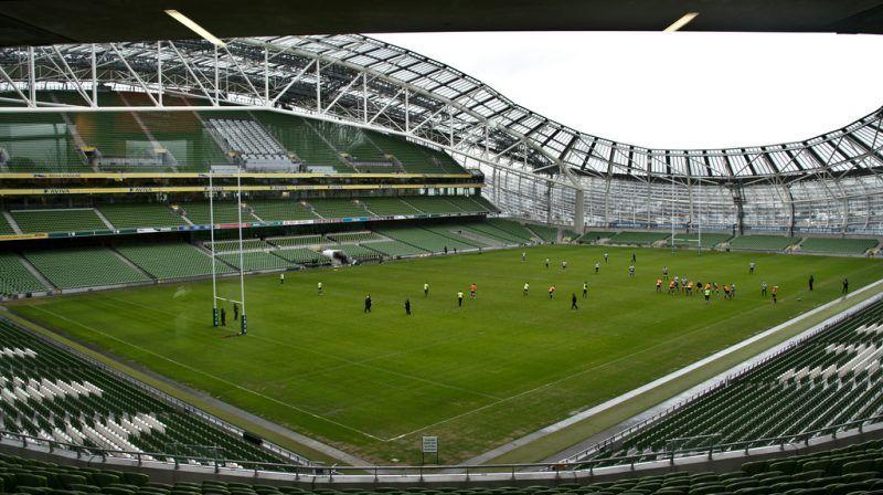Irlanda juega sus partidos de rugby en el Aviva Stadium de Dublín
