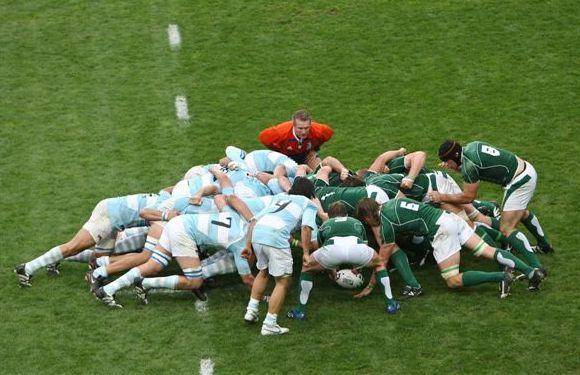 La melé en el rugby con Irlanda
