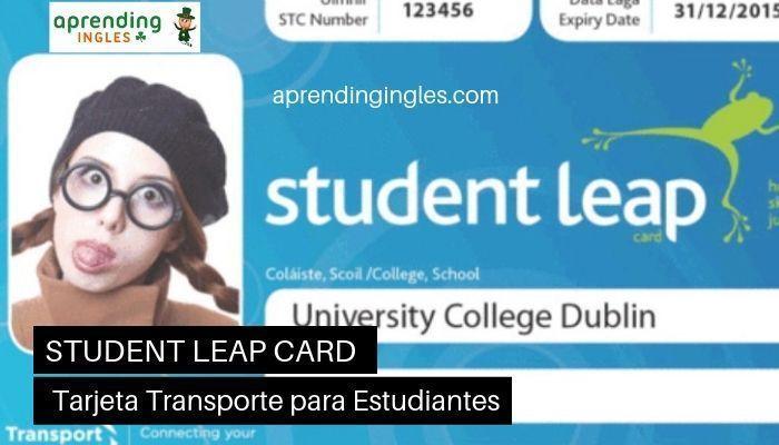 Tarjeta de transporte Student Leap Card en Irlanda